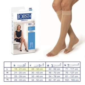 JOBST AD 15/20 MMHG NATURAL ABIERTA COLOR NATURAL